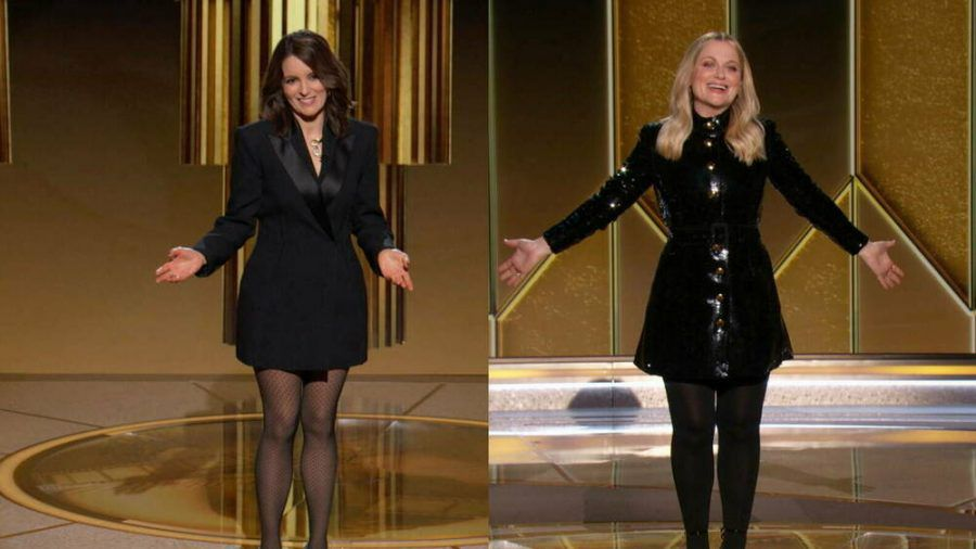 Tina Fey (l.) und Amy Poehler gaben als Moderatorinnen-Duo ihr Bestes, so wirklich wollte es aber nicht klappen. (stk/spot)