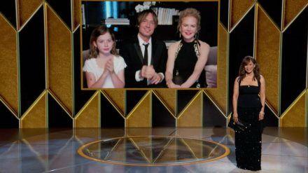 Nicole Kidman und Keith Urban, hier mit ihrer jüngsten Tochter Faith Margaret bei den Golden Globes. (stk/spot)