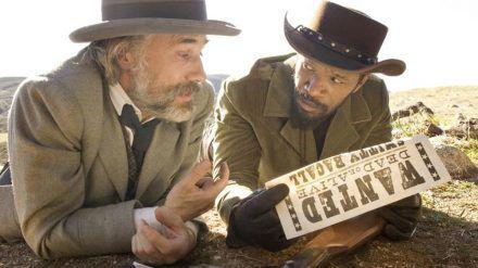 """""""Django Unchained"""": Kopfgeldjäger Dr. King Schultz (Christoph Waltz) nimmt den Sklaven Django (Jamie Foxx) unter seine Fittiche (cg/spot)"""