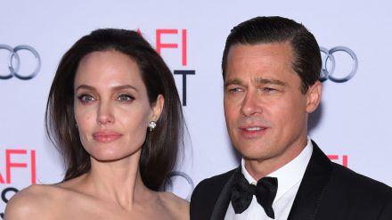 Angelina Jolie und Brad Pitt bei einem gemeinsamen Auftritt 2015 (stk/spot)