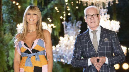 """Heidi Klum erhält einmal mehr Unterstützung von """"Making The Cut""""-Juror Tim Gunn. (cos/spot)"""