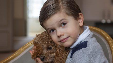 Prinz Oscar von Schweden feiert seinen fünften Geburtstag. (cos/spot)