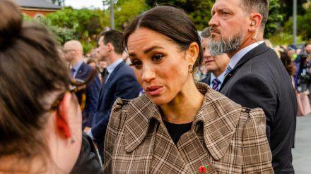Herzogin Meghan bei einem Auftritt 2018, aus diesem Jahr stammen die Mobbing-Vorwürfe. (dr/spot)