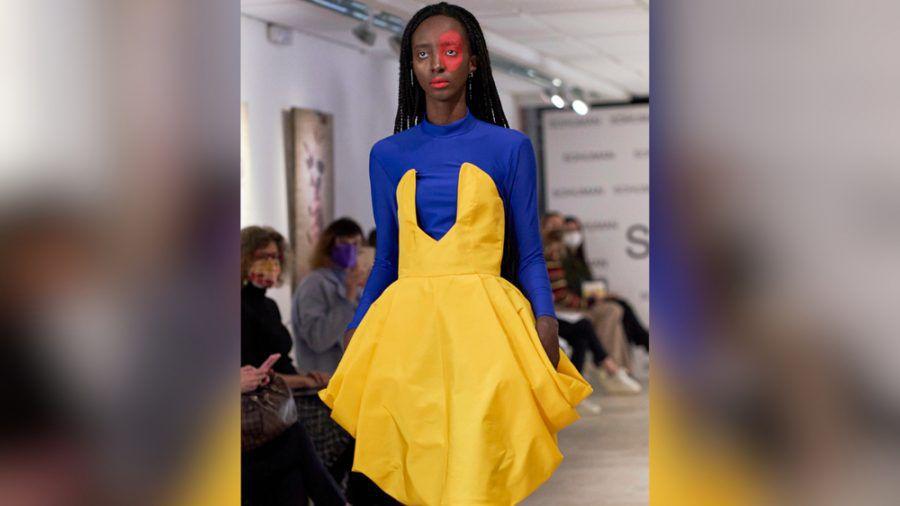 Das Fashionlabel Sohuman präsentierte auf der London Fashion Week seine Werke. (cos/spot)