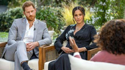 Harry und Meghan im Interview mit Oprah Winfrey. (wue/spot)