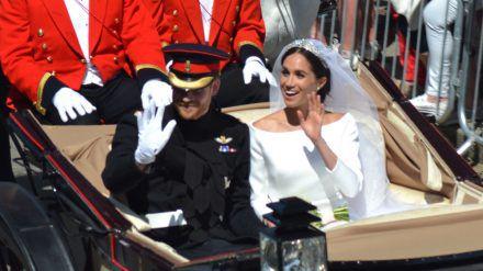 Prinz Harry und Herzogin Meghan waren bei der Royal Wedding schon seit drei Tagen Mann und Frau. (ili/spot)