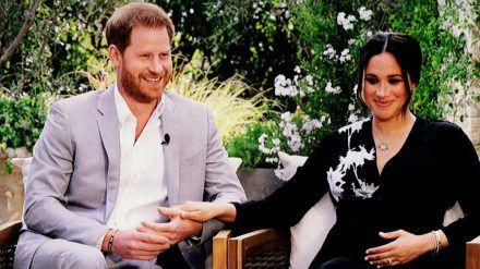 Prinz Harry und Herzogin Meghan während des Interviews mit Oprah Winfrey. (dr/spot)