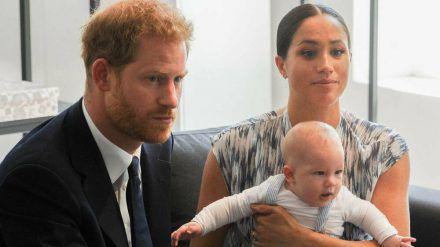 Harry, Meghan und der kleine Archie (wue/spot)