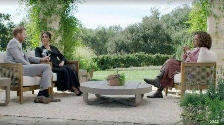 Prinz Harry und Herzogin Meghan bei ihrem Oprah-Interview (hub/spot)