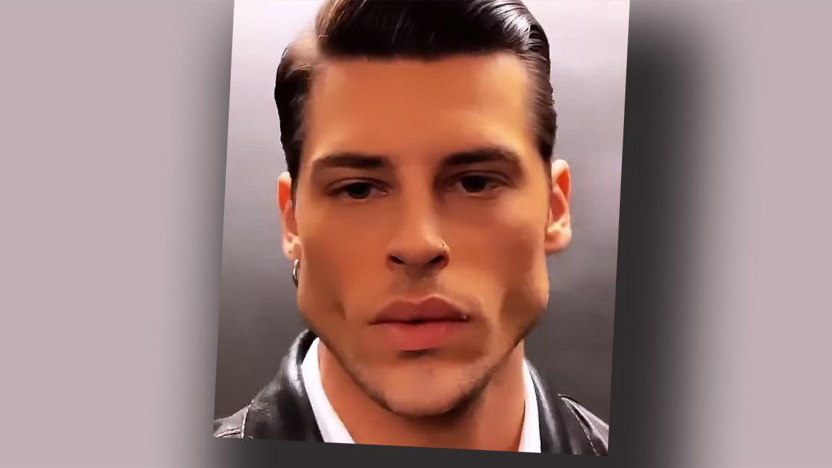 Gesicht op markantes mann graphdestlanfirs: Markantes