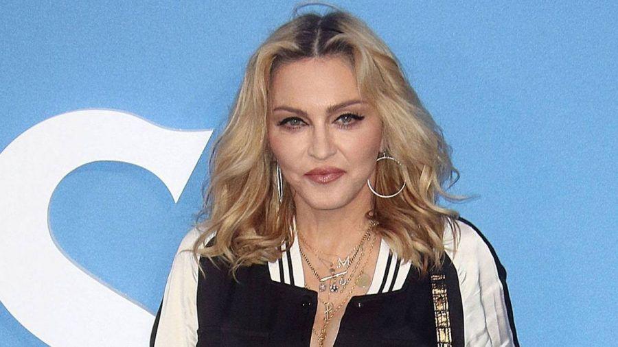 So sitzt Madonna auf'm Klo