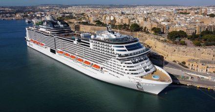 Kreuzfahrtschiff «MSC Grandiosa» in Valletta auf Malta - MSC Cruises hat neue Routen für den Sommer angekündigt.