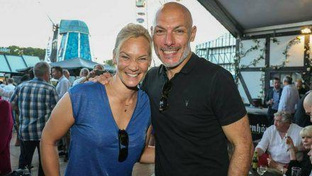 Bibiana Steinhaus und Ehemann Howard Webb bei einer Veranstaltung 2018. (jru/spot)