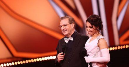 Jan Hofer erhielt mit seiner Tanzpartnerin Christina Luft für seinen Langsamen Walzer zwölf Punkte.