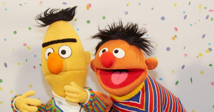 Ernie (r) und Bert - Stars der «Sesamstraße».