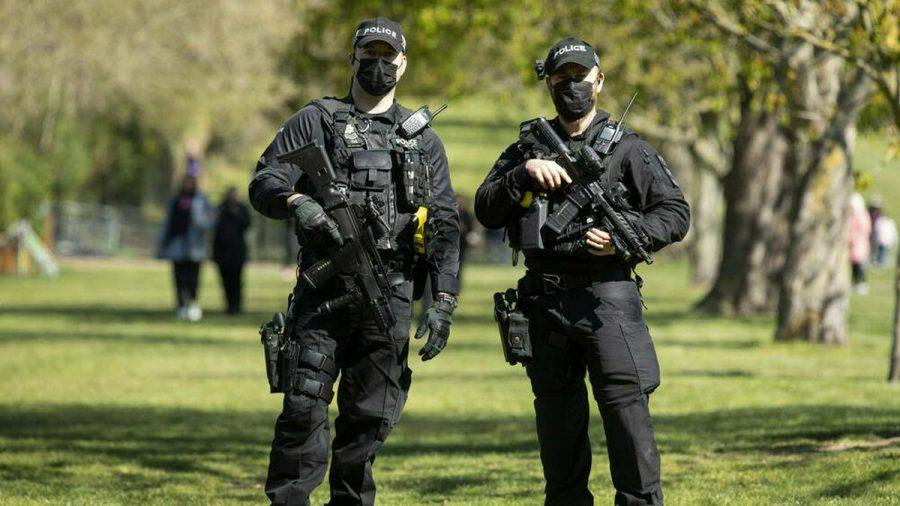 Bewaffnete Polizisten in Windsor (wue/spot)