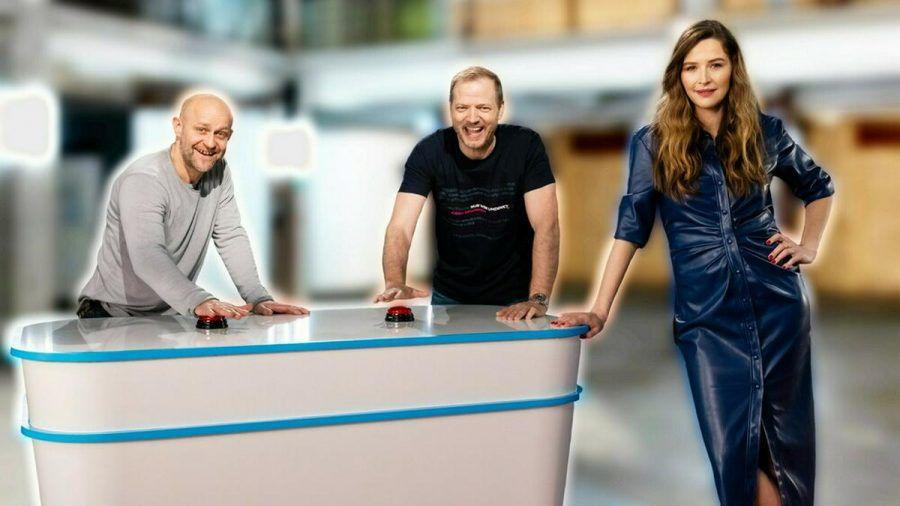 Von links: Jürgen Vogel, Mario Barth und Katrin Bauerfeind (mia/spot)