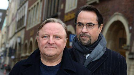 Ermitteln seit 2002 in Münster: Axel Prahl (l.) und Jan Josef Liefers (dr/spot)