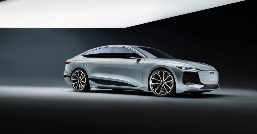 Fließende Formen: Mit der Studie A6 E-Tron Concept will Audi einen Vorgeschmack auf seine künftigen elektrischen Oberklassemodelle geben.