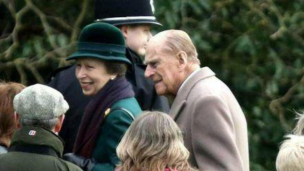 Prinzessin Anne und Prinz Philip im Dezember 2017 in Sandringham. (cos/spot)