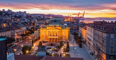 Blick über Rijeka.