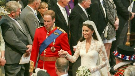 Prinz William und Herzogin Kate bei ihrer Hochzeit am 29. April 2011 (ili/spot)