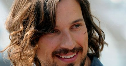 Der Schauspieler Florian David Fitz als Heiland bei Dreharbeiten zum Kinofilm «Jesus loves me» (2011).