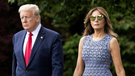Donald und Melania Trump bei einem gemeinsamen Auftritt (hub/spot)