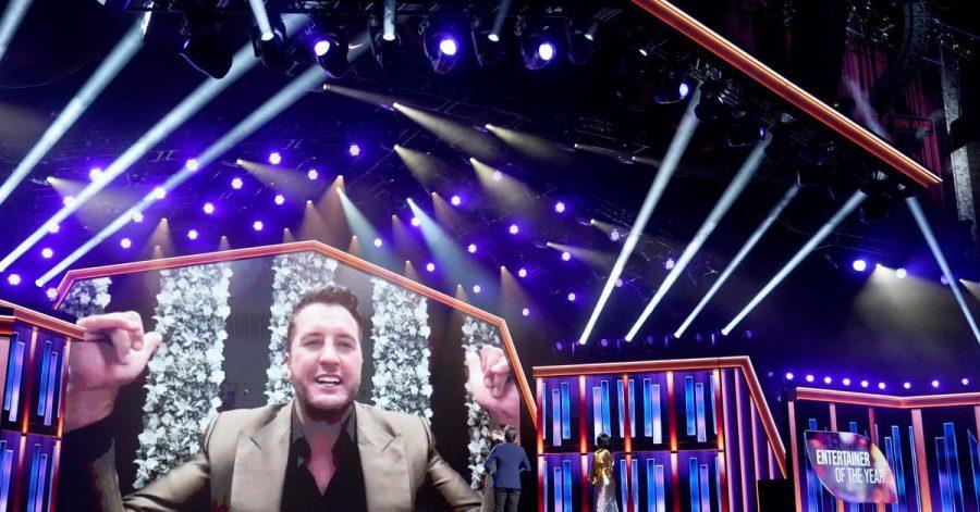 US-Country-Star Luke Bryan jubelt über seine Auszeichnung als «Entertainer des Jahres.
