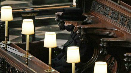 Die Queen bei Prinz Philips Beerdigung. (hub/spot)