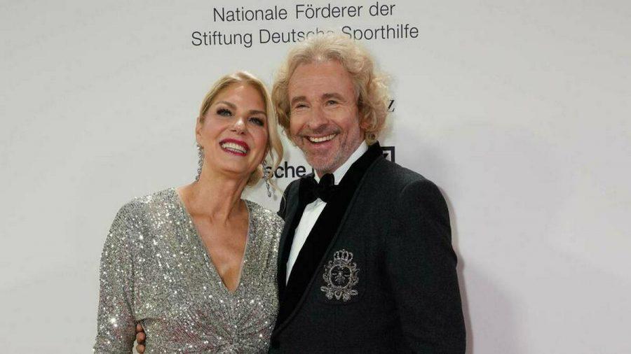 Karina Mroß und Thomas Gottschalk bei einem Event 2020. (tae/spot)