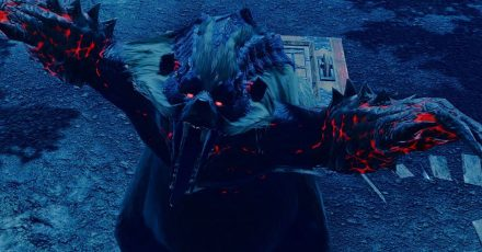 Ziemlich groß, ziemlich düster und ziemlich schlechte Laune. Eines der Monster, denen man in «Monster Hunter Rise» begegnet.