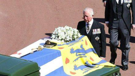 Prinz Charles während der Beerdigung von Prinz Philip (wue/spot)