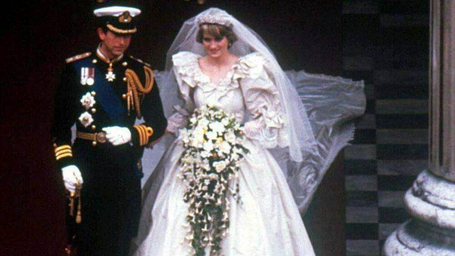Prinz Charles und Prinzessin Diana bei ihrer Hochzeit im Juli 1981. (wue/spot)