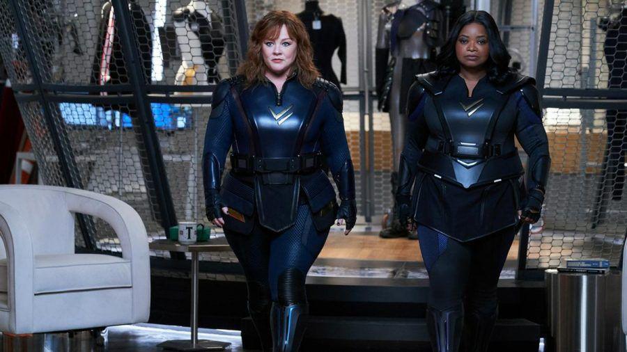 """Melissa McCarthy (l.) und Octavia Spencer mimen in """"Thunder Force"""" ein ungleiches Superheldinnen-Duo. (wag/spot)"""