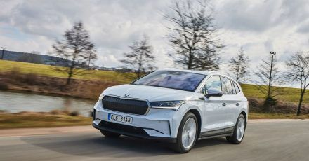 Neues Elektroauto von Skoda: Der Enyaq kommt je nach Ausführung mit einer Akkufüllung bis zu 520 Kilometer weit.