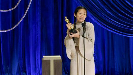 Chloé Zhao bei den Oscars 2021. (wue/spot)