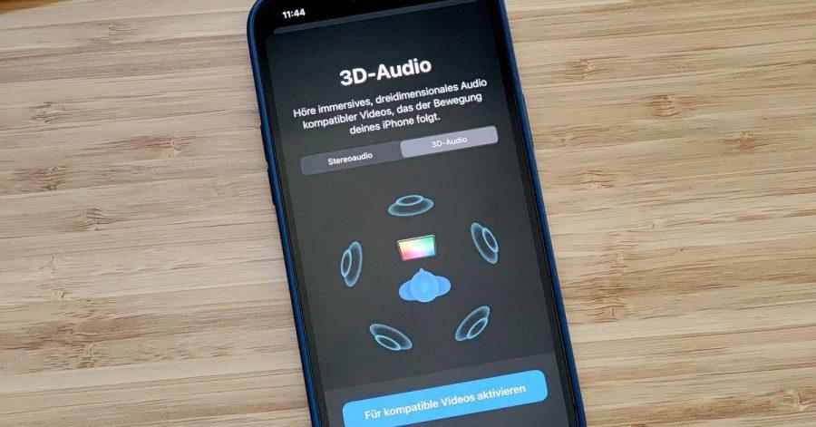 Im Bluetooth-Menü des iOS-Geräts finden sich die nötigen Einstellungen für 3D-Audio - die richtigen Apple-Kopfhörer vorausgesetzt.