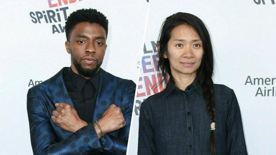 Sie dürften die größten Chancen auf einen Oscar haben: Der 2020 verstorbene Chadwick Boseman und Regisseurin Chloé Zhao. (stk/spot)