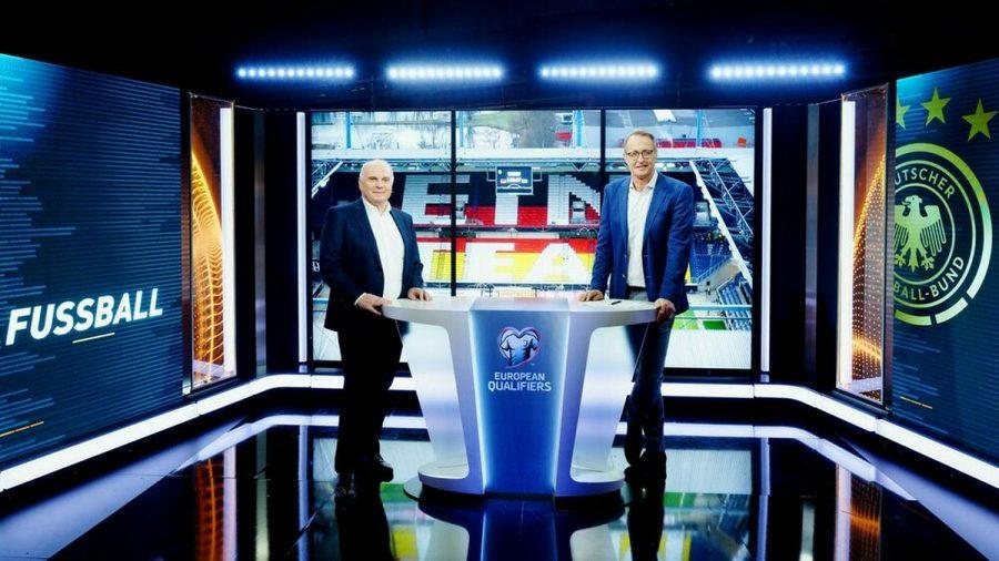 Uli Hoeneß (li.) und Florian König im RTL-Studio. (mia/spot)