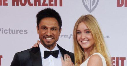 Daniel Aminati und Patrice Eva Fischer bei der Weltpremiere des Films «Die Hochzeit» im Zoo Palast.