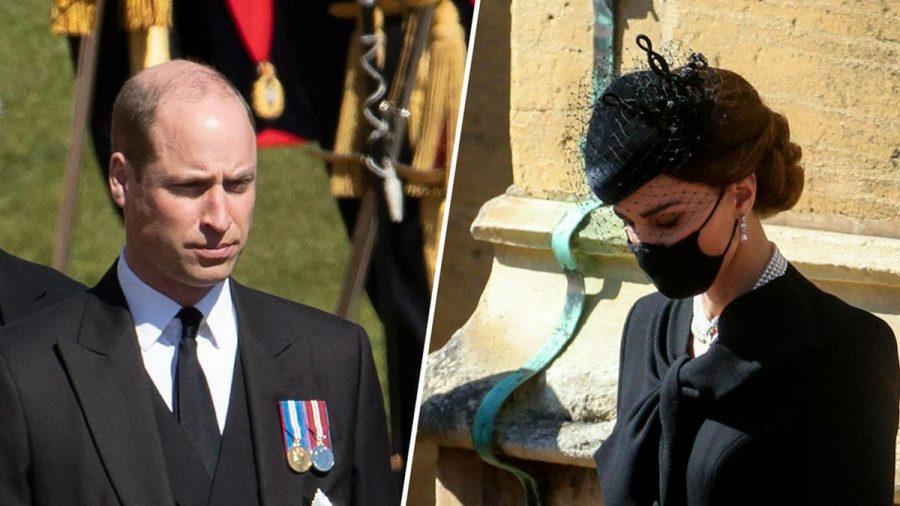 Prinz William und Herzogin Kate verabschiedeten sich am Samstag von Prinz Philip. (wag/spot)