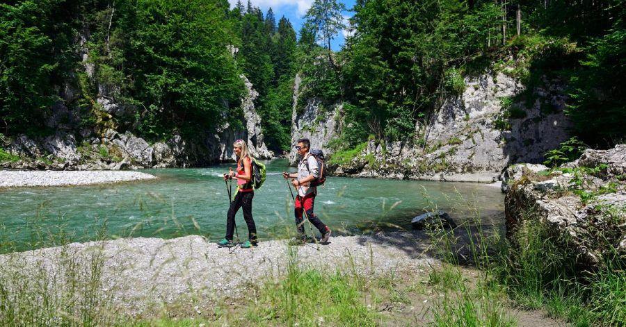 Die Entenlochklamm ist das Highlight auf der Raftingtour auf der Tiroler Achen.