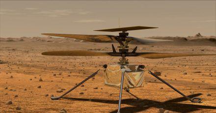 Der Mini-Hubschrauber «Ingenuity» auf der Marsoberfläche Mars.