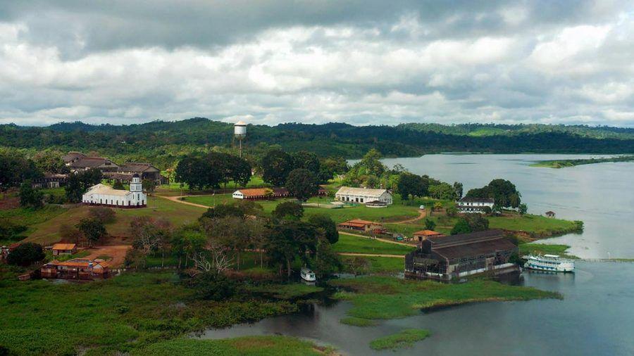 """Eigentlich ein idyllischer Anblick: """"Fordlandia"""" im brasilianischen Dschungel (kms/spot)"""