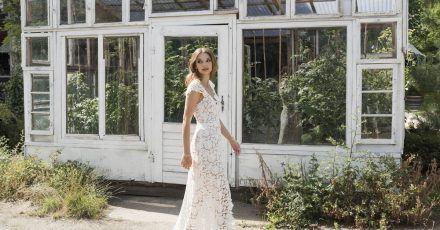 Wild und zart: Hochzeitskleider im Boho-Stil sind weiter angesagt - hier ein Beispiel von kisui Berlin (Preis auf Anfrage).
