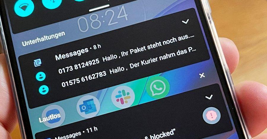 Wer aktuell solche oder ähnliche SMS bekommt, löscht sie besser sofort und klickt keinesfalls auf Links.