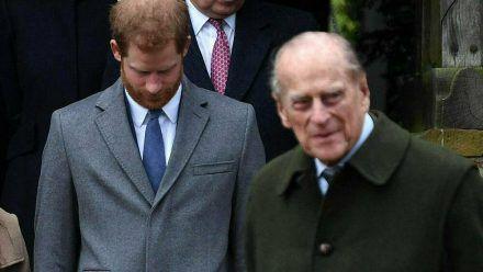 Prinz Harry und Prinz Philip (r.) im Jahr 2017 (wue/spot)