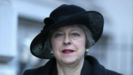 Die ehemalige britische Premierministerin Theresa May (wue/spot)