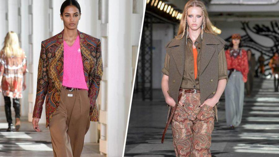 Hose mit Weitblick: Die Designer präsentierten auf der Mailänder Fashion Week Marlenehosen mit aufregenden Stylings (kms/spot)